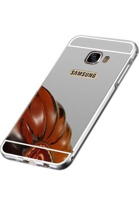 Sonmodashop Samsung Galaxy C7 Metal Aynalı Kılıf
