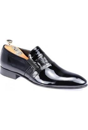 Paul Branco Siyah Rugan Ayakkabı