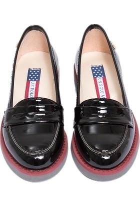 U.S. Polo Assn. Kız Çocuk K6Contes Ayakkabı Siyah