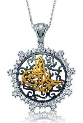Şahin Gümüş 925 Ayar Gümüş Zirkon Taşlı Tuğra Kolye
