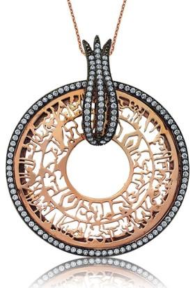 Şahin Gümüş 925 Ayar Gümüş Lale Halkalı Nur Suresi Kolye
