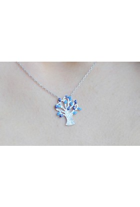 Şahin Gümüş 925 Ayar Gümüş Nazar Ağacı Kolye Ablmw567