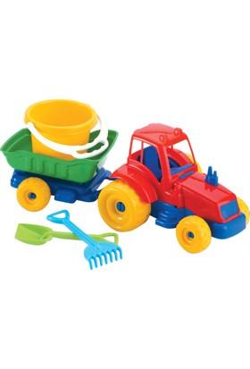 Traktör Plaj Set
