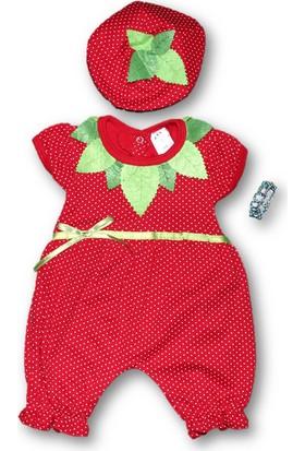 Biricik'S Kız Bebek Çilek Penye 2'li Tulum
