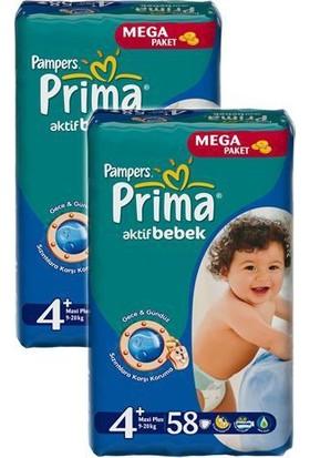 Prima Bebek Bezi Fırsat Paketi Maxi Plus 4+ Beden 116 Adet