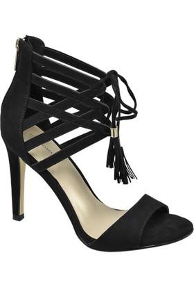 Deichmann Catwalk Kadın Siyah Bağcıklı Topuklu Ayakkabı