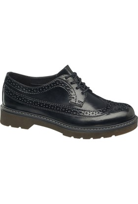 Graceland Kadın Oxford Ayakkabı Siyah