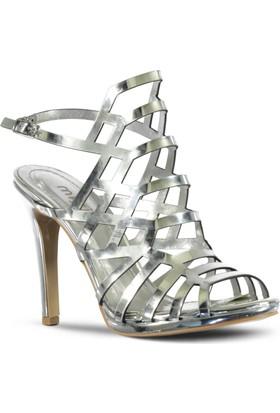 Marjin Nova Topuklu Ayakkabı Gümüş