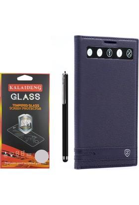 Gpack LG V20 Kılıf Akıllı Pencereli Elite +Kalem +Cam