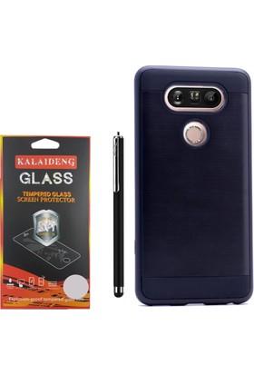 Gpack LG V20 Kılıf Darbe Emici Sert Katmanlı Case +Kalem +Cam