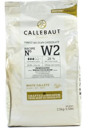 Callebaut Callebaut Beyaz Pul Çikolata 2,5Kg