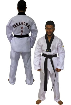 Profesyonel Siyah Yaka Taekwondo Elbisesi 200 cm