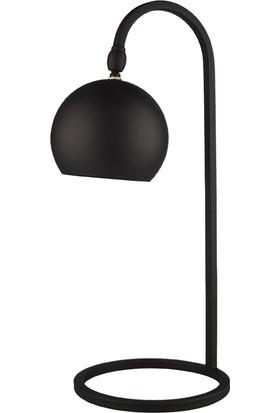 Moddy Serisi Pütürlü Siyah Renkli Oynar Başlıklı Masa Lambası