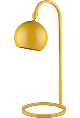 Moddy Serisi Sarı Renkli Oynar Başlıklı Masa Lambası