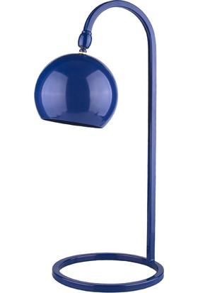 Moddy Serisi Lacivert Renkli Oynar Başlıklı Masa Lambası