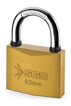 Sgs Sarı Boyalı Asma Kilit 25Mm Sgs1341 (1 Adet)