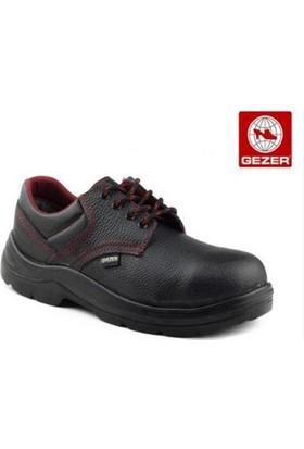 Gezer Çelik Burunlu Deri Ayakkabı Siyah 45 No (1 Çift)