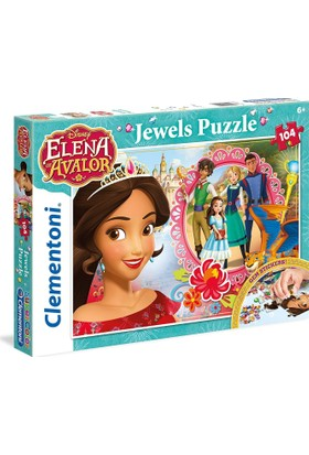 Clementoni 104 Parça Prenses Elena Jewells Puzzle (Taş Yapıştırmalı)
