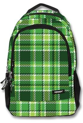Cennec 519 - Yeşil Ekoseli Okul / Sırt Çantası