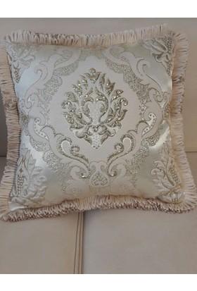 Kakule Teks. Altın Krem Osmanlı Desen Kırlent 00206