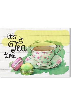Evmanya Deco Tea Tıme Kanvas Tablo