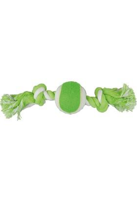 Toplu İp Sargı Köpek Oyuncağı (Yeşil/Beyaz) 28 Cm