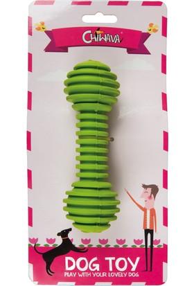 Lastik Halter Köpek Oyuncağı (Yeşil) 15 Cm