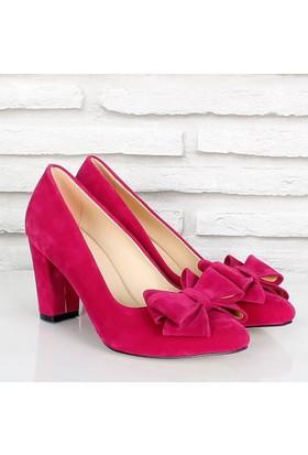 Oc Fuşya Süet Fiyonklualçak Topuk Kadın Ayakkabı 081