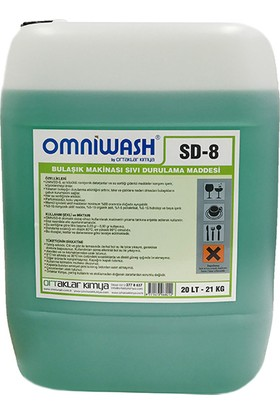 Omniwash Endüstriyel Bulaşık Makinesi Parlatıcısı 20 Kg Sd8