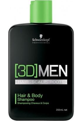 3D Men Erkeklere Özel Saç Ve Vücut Şampuanı 250Ml