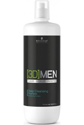 Schwarzkopf 3D Men Derin Temizleme Şampuanı 1000 Ml