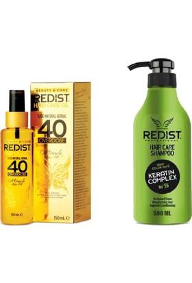 Redist 40 Saç Bakım Yağı 150Ml+ Keratin Şampuan 500Ml