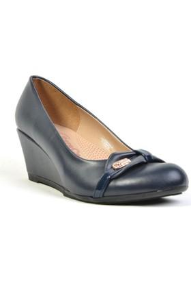 Esracan Deri Ortopedik Dolgu Topuk Günlük Bayan Ayakkabı