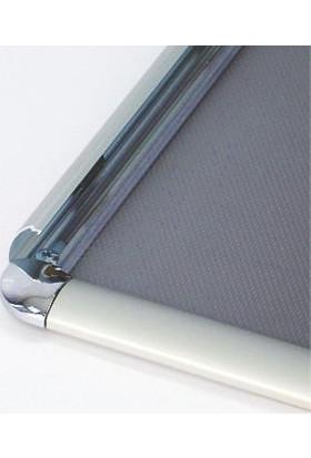 ORES 25mm. Alüminyum Afiş Çerçevesi Rondo Köşe - DIN A2 (420x594 mm.)