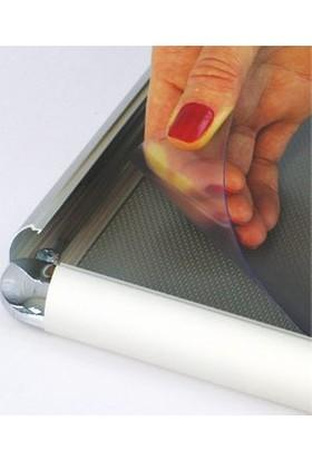 ORES 25mm. Alüminyum Afiş Çerçevesi Rondo Köşe - B2 (500x700 mm.)