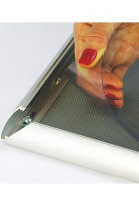 ORES 25mm. Alüminyum Afiş Çerçevesi Gönye Köşe - B3 (350x500 mm.)