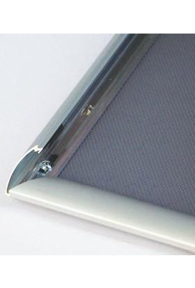 ORES 25mm. Alüminyum Afiş Çerçevesi Gönye Köşe - DIN A2 (420x594 mm.)