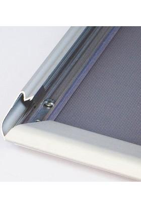 ORES 32mm. Alüminyum Afiş Çerçevesi Gönye Köşe - DIN A0 (841x1188 mm.)
