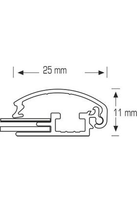 ORES 25mm. Atın Görünümlü Afiş Çerçevesi Gönye Köşe - DIN A4 (210x297 mm.)