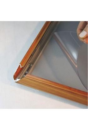 ORES 25mm. Ahşap Görünümlü Afiş Çerçevesi Gönye Köşe - DIN A4 (210x297 mm.)