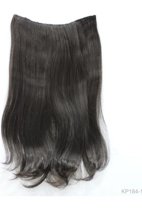 Saç Ve Peruk Fiber Sentetik Yarım Ay Saç Siyah