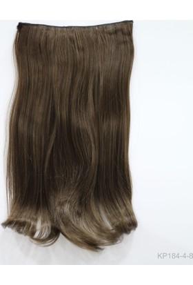 Saç Ve Peruk Fiber Sentetik Yarım Ay Saç Açık Kumral
