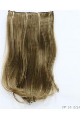 Saç Ve Peruk Fiber Sentetik Yarım Ay Saç Bal Kumral Balyaj