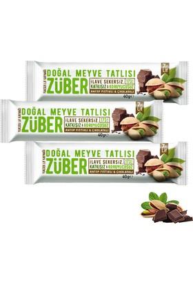 Züber Antep Fıstıklı Ve Çikolatalı Doğal Meyve Tatlısı 3 Adet x 40 gr