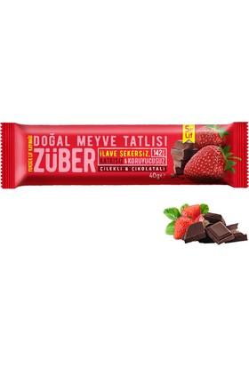 Züber Çilekli Ve Çikolatalı Doğal Meyve Tatlısı 12 Adet x 40 gr