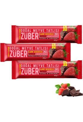 Züber Çilekli Ve Çikolatalı Doğal Meyve Tatlısı 3 Adet x 40 gr