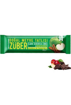 Züber Elmalı Ve Tarçınlı Doğal Meyve Tatlısı 12 Adet x 40 gr
