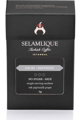 Selamlique Kafeinsiz Türk Kahvesi Sade 7 Adet x 7G 49 gr