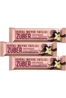 Züber Vanilyalı&Çikolatalı Meyve Tatlısı 3 Adet x 40 gr