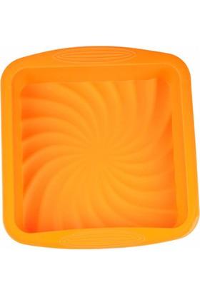 Myebi turuncu Kare Kek Kalıbı